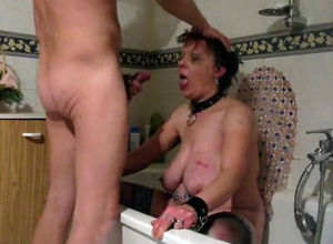 Homemade mature blowjob