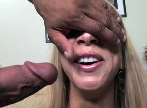 Blonde milf interracial