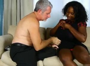 Ebony deepthroat white dick