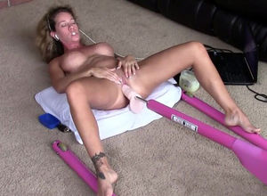 Mature masturbating orgasm